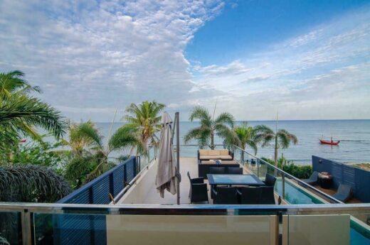 pool villa by sea